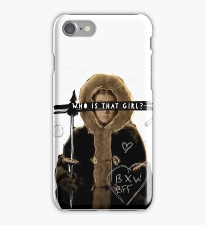 Who is that girl? iPhone Case/Skin