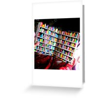 Unlimited Books Library Design Greeting Card