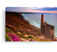 Old mining chimney stack Canvas Print