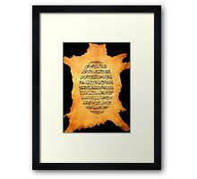 Aayat al Kursi painting on deer Leather Framed Print