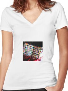 Unlimited Books Library Design Women's Fitted V-Neck T-Shirt