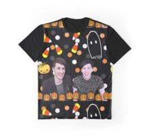 Halloween Dan and Phil Graphic T-Shirt