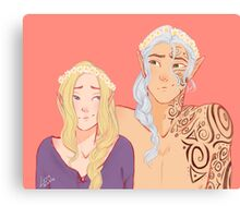 Flower Crowns and Faes  Canvas Print