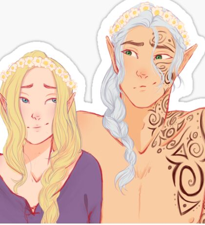 Flower Crowns and Faes  Sticker