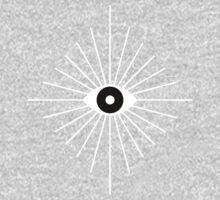 Kaleidoscope Eyes - Black and White One Piece - Long Sleeve