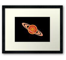 Saturn's Hexagon Framed Print