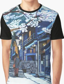 Under the Cherry Blossoms, Spring Graphic T-Shirt