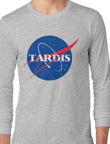 Tardis Nasa logo Doctor Who Long Sleeve T-Shirt