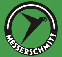 Messerschmitt Aircraft Logo -Black- (No Label) by warbirdwear