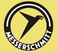 Messerschmitt Aircraft Logo -Black- (No Label) Kids Clothes