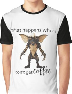 Male Gremlin without Coffee Graphic T-Shirt