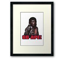 Planet of apes - GO APE Framed Print