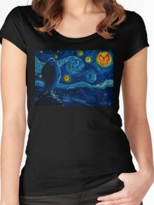 Venture Bros. Starry Night Women's Fitted Scoop T-Shirt