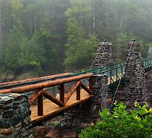 The Old Swinging Bridge Restored by SandraNightski