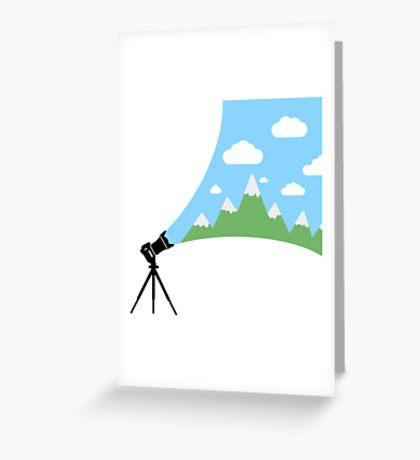 A Cameras Sight Greeting Card