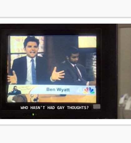 parks and recreation - gay thoughts Sticker
