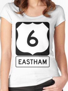 US 6 - Eastham Massachusetts Women's Fitted Scoop T-Shirt
