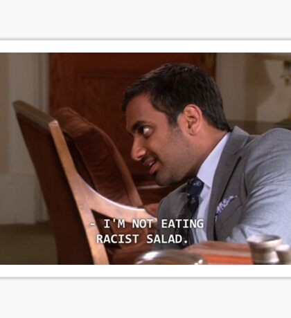 parks and recreation - racist salad Sticker