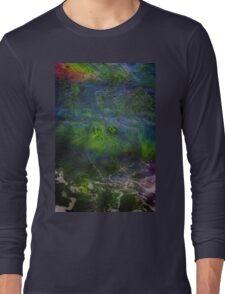 Sea Grass Abstract Long Sleeve T-Shirt