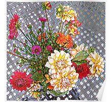 English afternoon fall bouquet  Poster