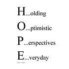hope in your hands~ by Brandi Burdick