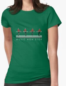 PIXEL8 | Music Non Stop | Red Womens Fitted T-Shirt