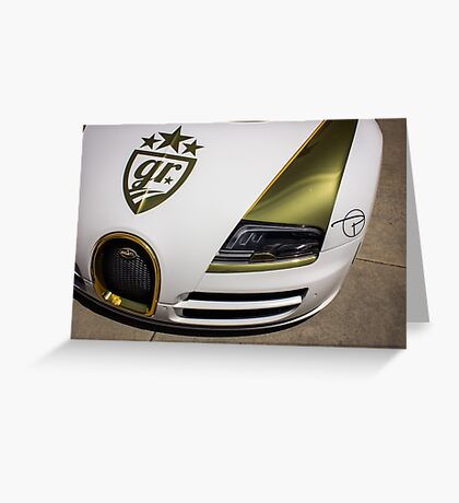 Gold Plated Bug  Greeting Card