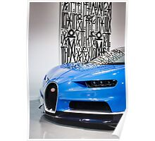 Wall Art and Dynamic Art Featuring the Bugatti Chiron Poster