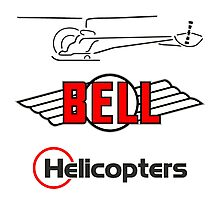 Retro Bell 47 Helicopter Photographic Print