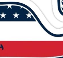American Flag Vineyard Vines Sticker