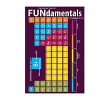 FUNdamentals - Periodic Table of Fun Photographic Print