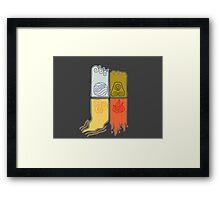 Elemental Scrolls Framed Print