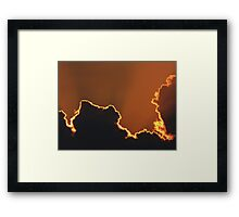 SILHOUETTED CLOUD Framed Print