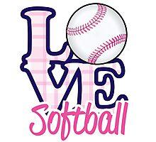 Love Softball  Photographic Print
