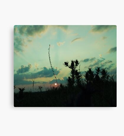 BLUE TONED SUNSET Canvas Print