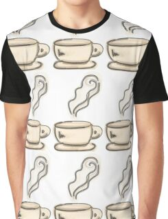 Coffee Cup Doodle Graphic T-Shirt
