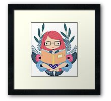 The Book Queen Framed Print