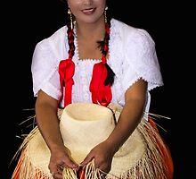 Panama Hat Poster Lady by Al Bourassa