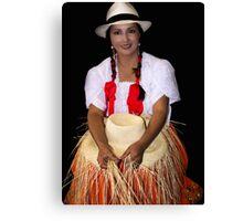 Panama Hat Poster Lady Canvas Print