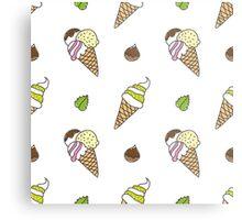 cartoon ice cream cones Metal Print