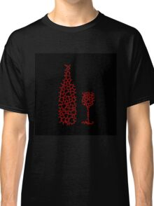 Bottle and glass with hearts  Classic T-Shirt
