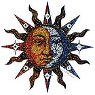 Celestial Mosaic Sun/Moon by David Sanders