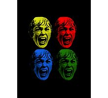 Psycho - 4 colored faces Photographic Print