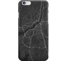 Gothenburg, Sweden Map. (White on black) iPhone Case/Skin