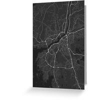 Gothenburg, Sweden Map. (White on black) Greeting Card
