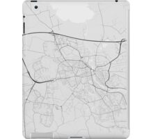 Linkoping, Sweden Map. (Black on white) iPad Case/Skin