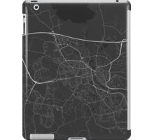 Linkoping, Sweden Map. (White on black) iPad Case/Skin