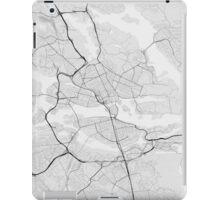 Stockholm, Sweden Map. (Black on white) iPad Case/Skin