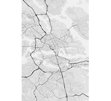 Stockholm, Sweden Map. (Black on white) Photographic Print