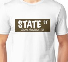 State Street Sign- Brown Unisex T-Shirt